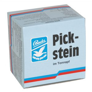 1011-Pickstein im Tonnapf rot